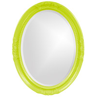 Howard Elliott Collection 40101MG Queen Ann 33 X 25 inch Green Wall Mirror, Oval photo thumbnail