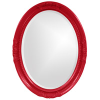 Howard Elliott Collection 40101R Queen Ann 33 X 25 inch Red Wall Mirror, Oval photo thumbnail