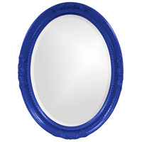 Howard Elliott Collection 40101RB Queen Ann 33 X 25 inch Royal Blue Wall Mirror, Oval photo thumbnail
