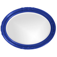 Howard Elliott Collection 40101RB Queen Ann 33 X 25 inch Royal Blue Wall Mirror, Oval alternative photo thumbnail