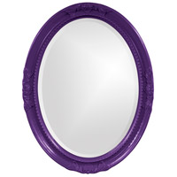 Howard Elliott Collection 40101RP Queen Ann 33 X 25 inch Royal Purple Wall Mirror, Oval photo thumbnail