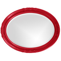 Howard Elliott Collection 40101R Queen Ann 33 X 25 inch Red Wall Mirror, Oval alternative photo thumbnail