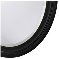 Howard Elliott Collection 40106 George 33 X 25 inch Matte Black Lacquer Wall Mirror, Oval alternative photo thumbnail