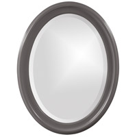 Howard Elliott Collection 40107CH George 33 X 25 inch Charcoal Wall Mirror, Oval photo thumbnail
