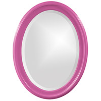 Howard Elliott Collection 40107HP George 33 X 25 inch Hot Pink Wall Mirror, Oval photo thumbnail