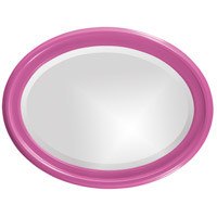 Howard Elliott Collection 40107HP George 33 X 25 inch Hot Pink Wall Mirror, Oval alternative photo thumbnail