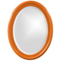 Howard Elliott Collection 40107O George 33 X 25 inch Glossy Orange Wall Mirror photo thumbnail