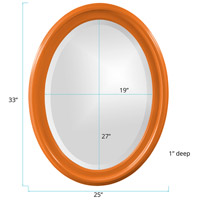 Howard Elliott Collection 40107O George 33 X 25 inch Glossy Orange Wall Mirror alternative photo thumbnail