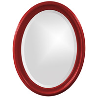 Howard Elliott Collection 40107R George 33 X 25 inch Red Wall Mirror, Oval photo thumbnail