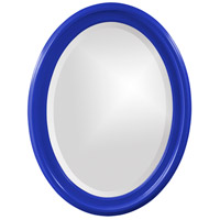 Howard Elliott Collection 40107RB George 33 X 25 inch Glossy Royal Blue Wall Mirror photo thumbnail