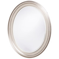George 33 X 25 inch Nickel Wall Mirror, Oval