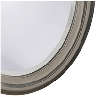 Howard Elliott Collection 40109 George 33 X 25 inch Nickel Wall Mirror, Oval alternative photo thumbnail