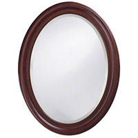 Howard Elliott Collection 40110 George 33 X 25 inch Rich Chocolate Brown Lacquer Wall Mirror, Oval photo thumbnail