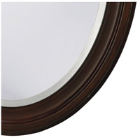 Howard Elliott Collection 40110 George 33 X 25 inch Rich Chocolate Brown Lacquer Wall Mirror, Oval alternative photo thumbnail