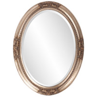 Howard Elliott Collection 4015 Queen Ann 33 X 25 inch Antique Silver Leaf Wall Mirror, Oval photo thumbnail