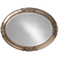 Howard Elliott Collection 4015 Queen Ann 33 X 25 inch Antique Silver Leaf Wall Mirror, Oval alternative photo thumbnail