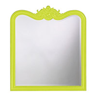 Howard Elliott Collection 4079MG Eliza 38 X 34 inch Black Wall Mirror, Rectangle photo thumbnail