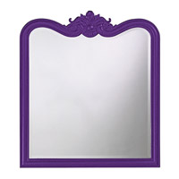 Howard Elliott Collection 4079RP Eliza 38 X 34 inch Black Wall Mirror, Rectangle photo thumbnail