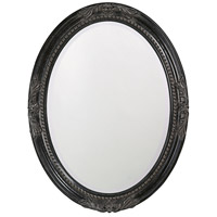 Howard Elliott Collection 4081 Queen Ann 33 X 25 inch Antique Black Wall Mirror, Oval