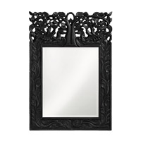 Howard Elliott Collection 4084BL Oakvale 25 X 17 inch Glossy Black Lacquer Wall Mirror, Rectangle photo thumbnail