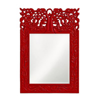 Howard Elliott Collection 4084R Oakvale 25 X 17 inch Red Wall Mirror, Rectangle photo thumbnail