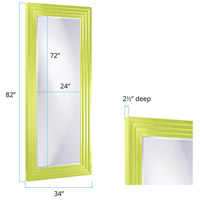 Howard Elliott Collection 43057MG Delano 82 X 34 inch Green Floor Mirror, Rectangle alternative photo thumbnail