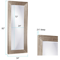 Howard Elliott Collection 43057 Delano 82 X 34 inch Bright Silver Leaf Floor Mirror, Rectangle alternative photo thumbnail