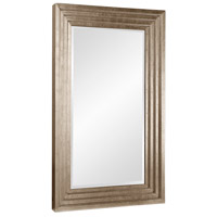 Howard Elliott Collection 43057SM Delano 82 X 34 inch Bright Silver Leaf Floor Mirror, Rectangle, Small