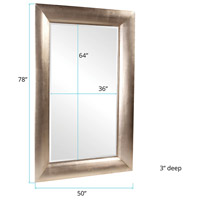 Howard Elliott Collection 43103 Baron 78 X 50 inch Bright Silver Leaf Floor Mirror, Rectangle alternative photo thumbnail