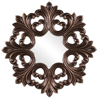 Howard Elliott Collection 43105 Annabelle 35 X 35 inch Deep Bronze Wall Mirror, Round, Burnished Copper Highlights photo thumbnail