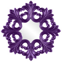 Howard Elliott Collection 43105RP Annabelle 35 X 35 inch Royal Purple Wall Mirror, Round photo thumbnail