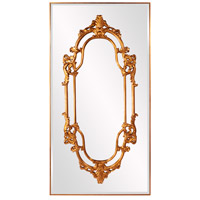 Akira 91 X 47 inch Bright Gold Leaf and Mirrored Wall Mirror, Round