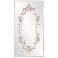 Akira 91 X 47 inch Bright Silver Leaf Wall Mirror, Rectangle