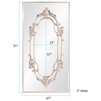 Howard Elliott Collection 43117 Akira 91 X 47 inch Bright Silver Leaf Wall Mirror, Rectangle alternative photo thumbnail