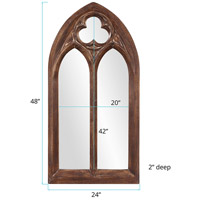 Howard Elliott Collection 43124 Basilica 69 X 36 inch Tuscan Brown Wall Mirror, Rectangle, Antique Washed Accents alternative photo thumbnail