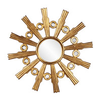 Howard Elliott Collection 43125 Calypso 84 X 46 inch Gold Leaf Wall Mirror, Round photo thumbnail