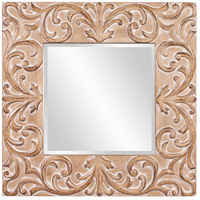 Howard Elliott Collection 43126 Larson 39 X 39 inch Antique Brown Wall Mirror, Square photo thumbnail