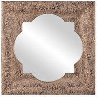 Howard Elliott Collection 43129 Raymus 36 X 36 inch Warm Silver Leaf Wall Mirror, Gold Accents photo thumbnail