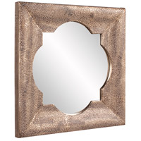 Howard Elliott Collection 43129 Raymus 36 X 36 inch Warm Silver Leaf Wall Mirror, Gold Accents alternative photo thumbnail