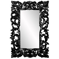 Howard Elliott Collection 43130BL Augustus 70 X 46 inch Black Wall Mirror, Rectangle photo thumbnail