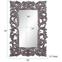 Howard Elliott Collection 43130CH Augustus 70 X 46 inch Charcoal Wall Mirror, Rectangle alternative photo thumbnail