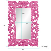 Howard Elliott Collection 43130HP Augustus 70 X 46 inch Hot Pink Wall Mirror, Rectangle alternative photo thumbnail