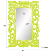 Howard Elliott Collection 43130MG Augustus 70 X 46 inch Moss Green Wall Mirror, Rectangle alternative photo thumbnail