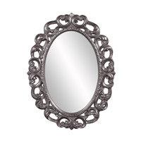 Howard Elliott Collection 43131CH Ansel 46 X 34 inch Charcoal Wall Mirror, Oval photo thumbnail