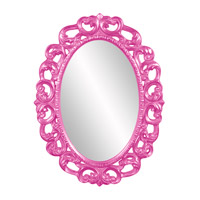 Howard Elliott Collection 43131HP Ansel 46 X 34 inch Hot Pink Wall Mirror, Oval photo thumbnail