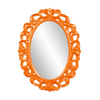 Howard Elliott Collection 43131O Ansel 46 X 34 inch Orange Wall Mirror, Oval photo thumbnail