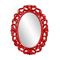 Howard Elliott Collection 43131R Ansel 46 X 34 inch Red Wall Mirror, Oval photo thumbnail