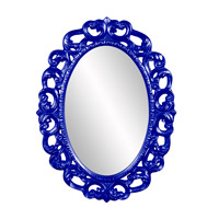 Howard Elliott Collection 43131RB Ansel 46 X 34 inch Royal Blue Wall Mirror, Oval photo thumbnail