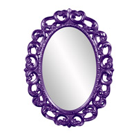 Howard Elliott Collection 43131RP Ansel 46 X 34 inch Royal Purple Wall Mirror, Oval photo thumbnail
