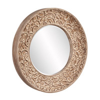 Howard Elliott Collection 43133 Larson Pickled Antique Brown Wall Mirror, Round alternative photo thumbnail